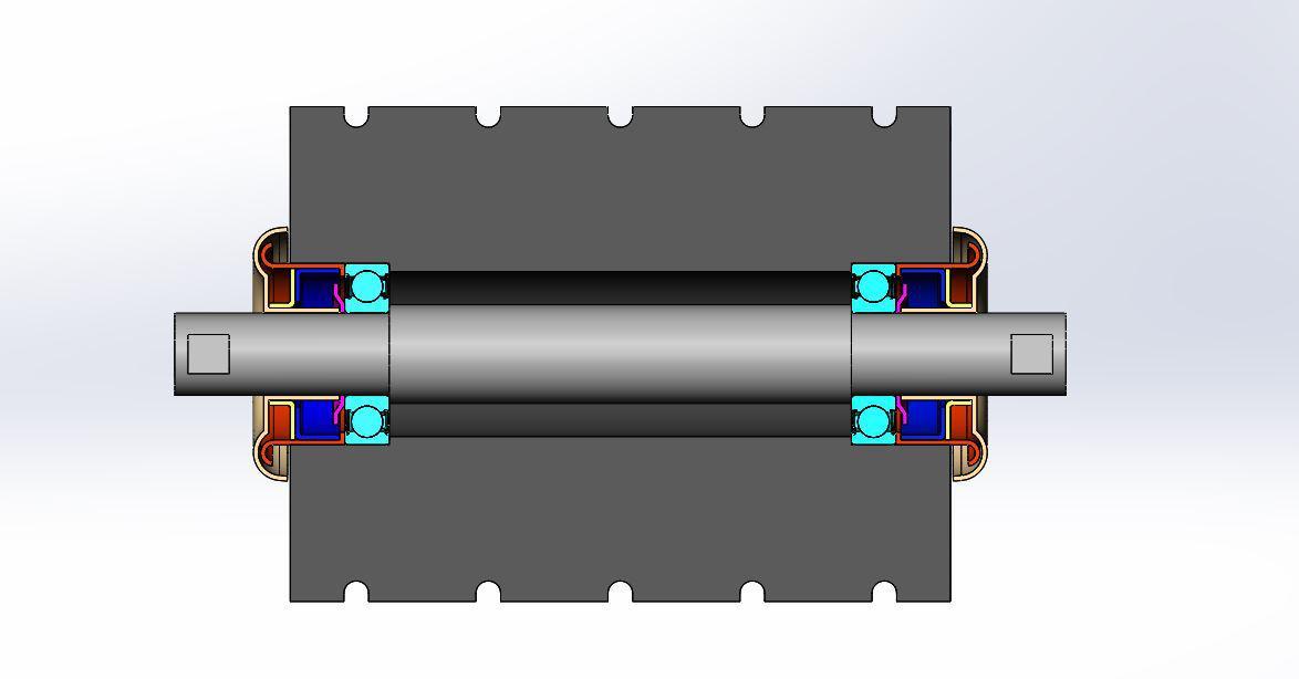 Koncepcja ułożyskowania dla krążników taśmociągów (Źródło: NKE)