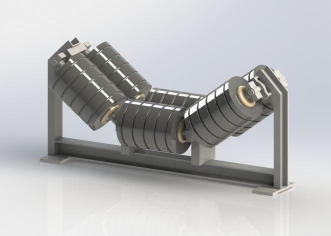 Krążniki taśmociągu w systemie taśmowym (Źródło: NKE)